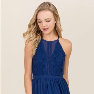 Francesca's Blue A-line Dress